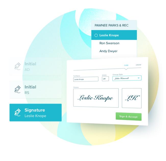 Digitale Unterschrift und Beauftragung